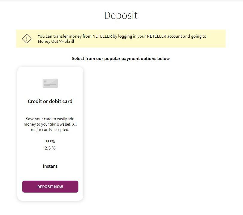cara isi saldo skrill lewat kartu kredit